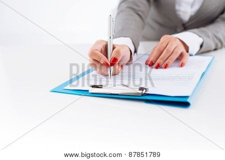 Examining business document