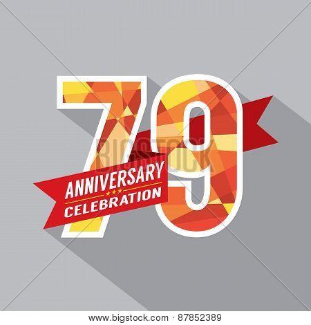 79Th Years Anniversary Celebration Design.