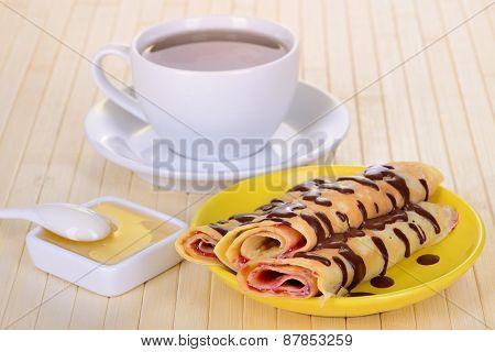 Pancakes With Chocolate