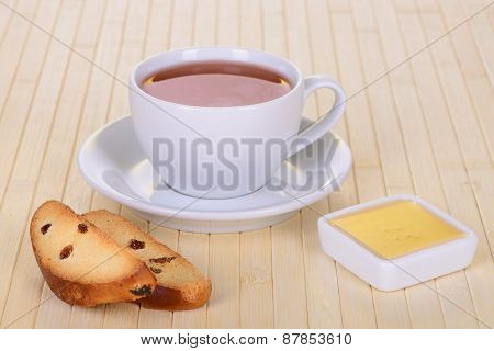 Crackers With Tea