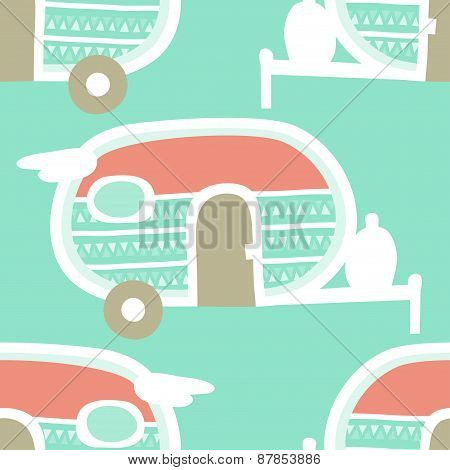 Retro Camper Pattern