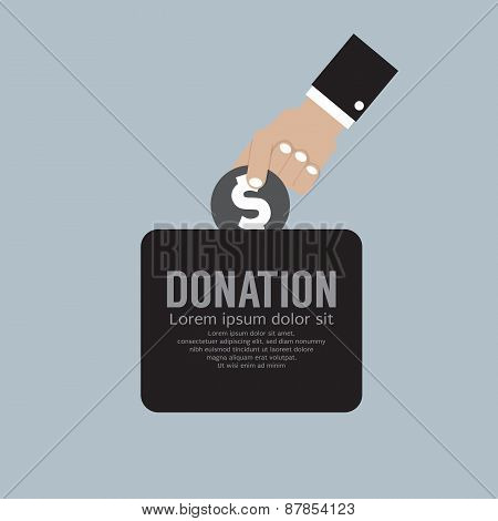 Donate Money To Charity Concept.
