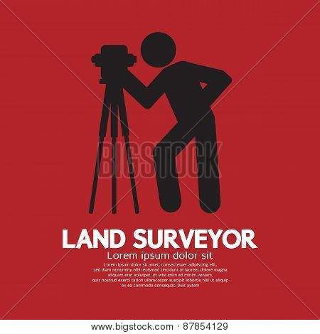 Land Surveyor Black Graphic Symbol.