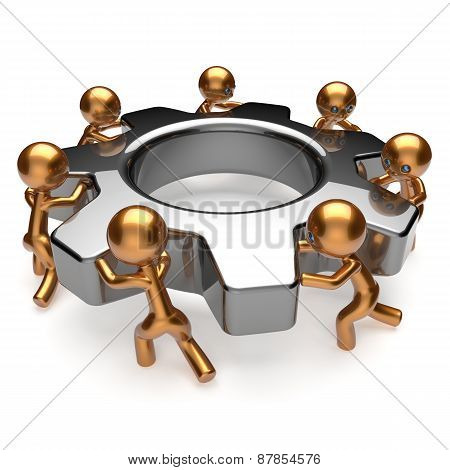 Partnership Team Business Process Workforce Teamwork Gear