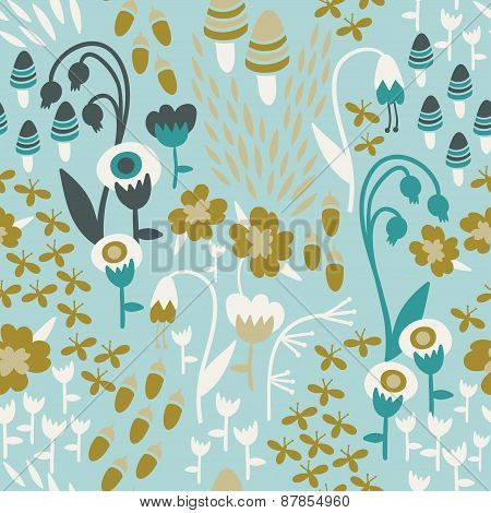 Botanical Woodland Pattern