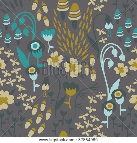 Botanical Woodland Pattern