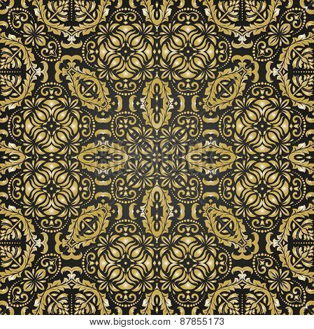 Golden Pattern in the style of Baroque. Abstract  Background