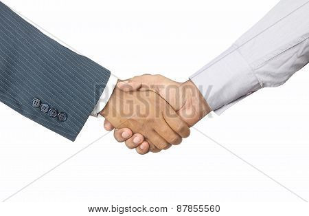 Indian businessmen shaking hands