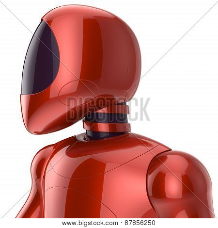 Cyborg Futuristic Bot Robot Sci-fi Model Concept Red