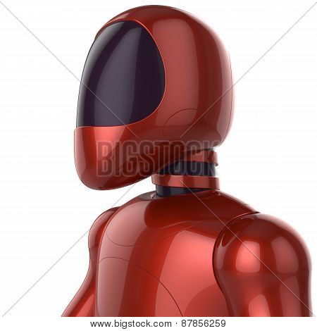 Cyborg Futuristic Artificial Model Robot Sci-fi Bot Concept Red