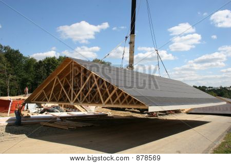 Moving Roof Onto Road