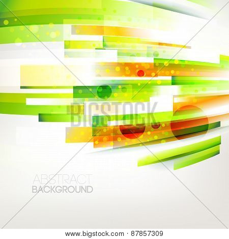 Abstract Top Oriented Color Wave, Living Lines Illustration