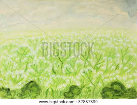 Meadow In Blossom, Painting