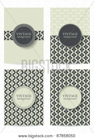Set Of Brochures In Vintage Style