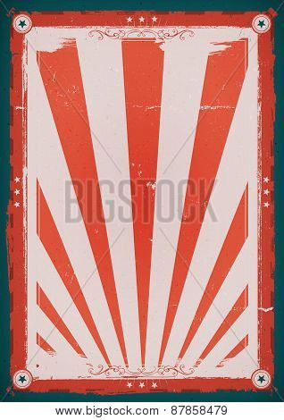 Fourth Of July Vintage Background Poster