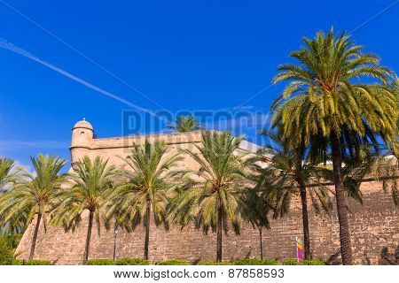 Majorca Es Baluard facade in Palma de Mallorca Balearic islands of Spain