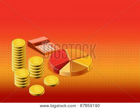 Financial background stock illustration