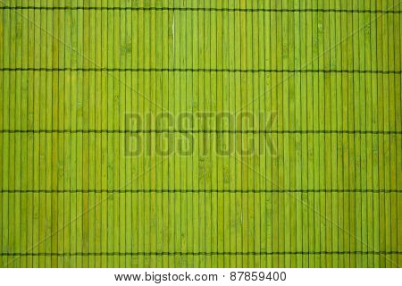 detail of green bamboo place mat backgrounds