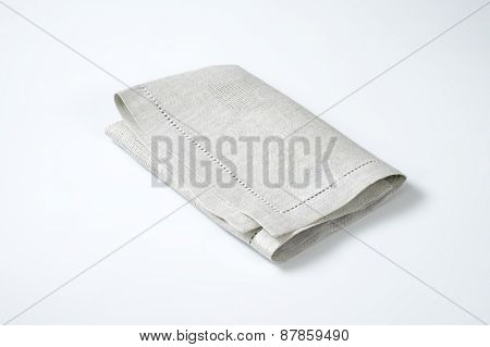 grey place mat on white background