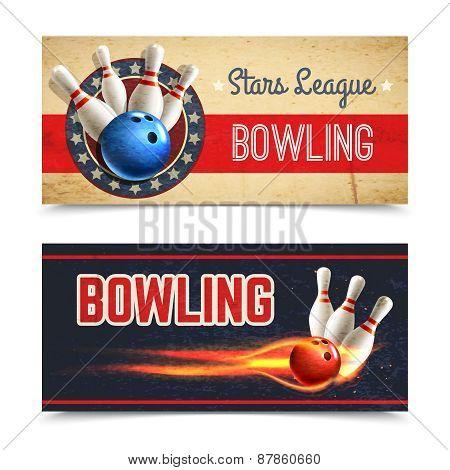 Bowling Banner Set
