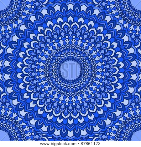 Bright Hand-drawing Ornamental Lace Abstract Seamless Background With Many Details
