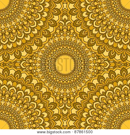 Bright Ornamental Lace Abstract Seamless Background With Many Details