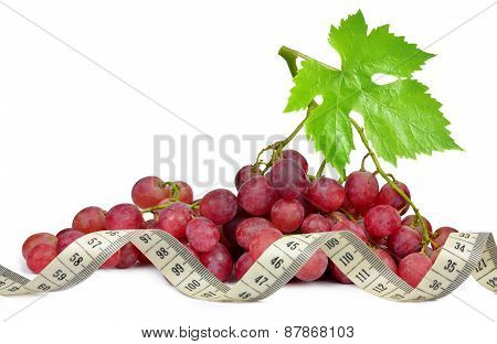 grapes with measuring tape