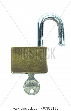 Unlock Key Isolated On White Background