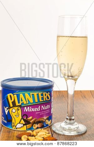 Wine With Salty Snack