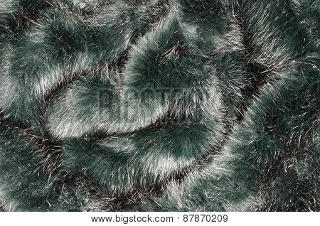 Greenfake  Fur Background