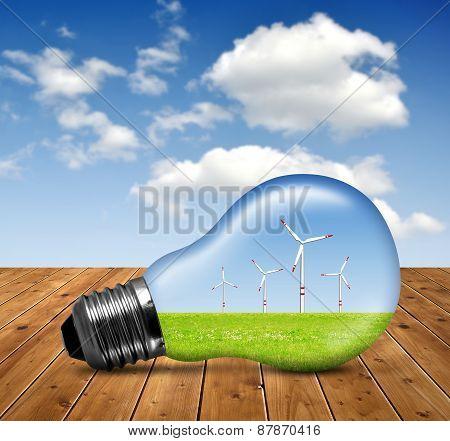 Wind turbines in bulb
