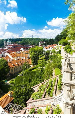 Ledeburska Garden and Saint Nicholas Church, Prague, Czech Republic