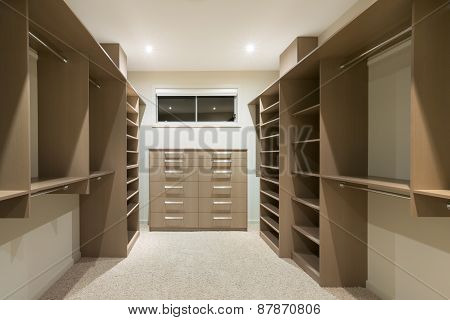 Modern Walk In Wardrobe