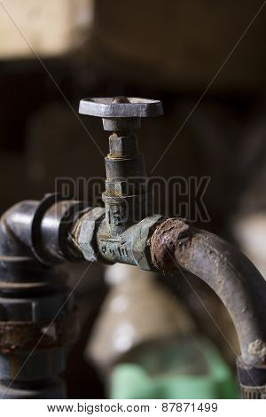 Old Rusty Water Tap
