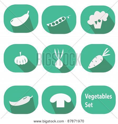 Vegetables set - flat design