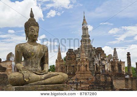 Historical Sukothai Park ,wat Mahathat ,thailand