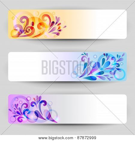 Banners With Abstract Decoration