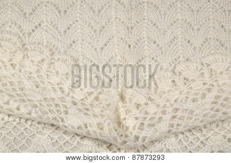 White Wool Background