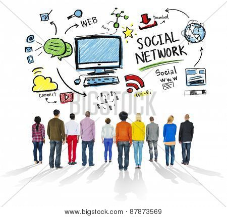 Social Network Social Media People Diversity Together Concept