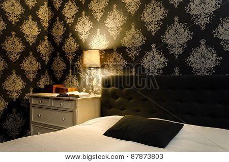 Modern Retro Bedroom Interior