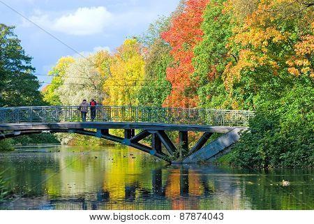 Saint-Petersburg. Russia. Autumn park