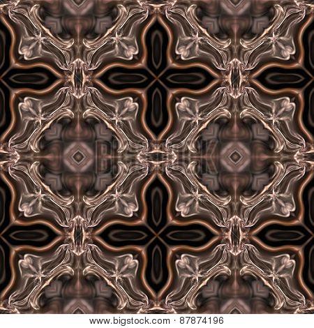 Seamless Kaleidoscope Texture Or Pattern In Brown Spectrum 2