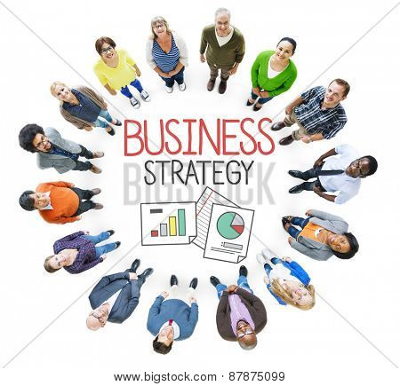 Business Strategy Analysis Teamwork Concept