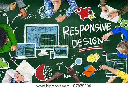 Responsive Design Internet Web Online Study Learning Concept