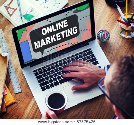 Online Marketing Global Business Connection Concept