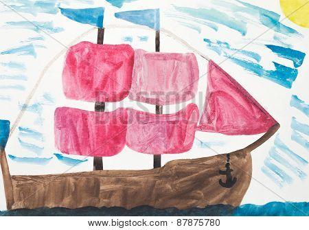 Children's Drawing Of Sailfish