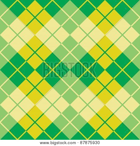 Argyle Design in Yellow and Green