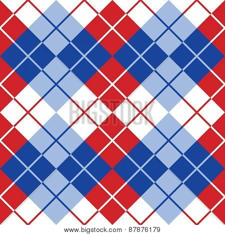 Argyle in Red, White and Blue