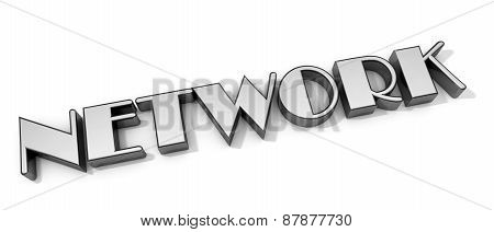 3D Network Word On White Isolated Background