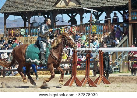 A Joust Tournament At The Arizona Renaissance Festival